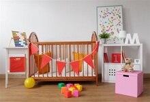 Laeacco 1 Ano Novo Nascido Quarto Berço Brinquedos Do Bebê Chuveiro Fundos Fotográficos Personalizados Fotografia Backdrops Para Estúdio de Fotografia