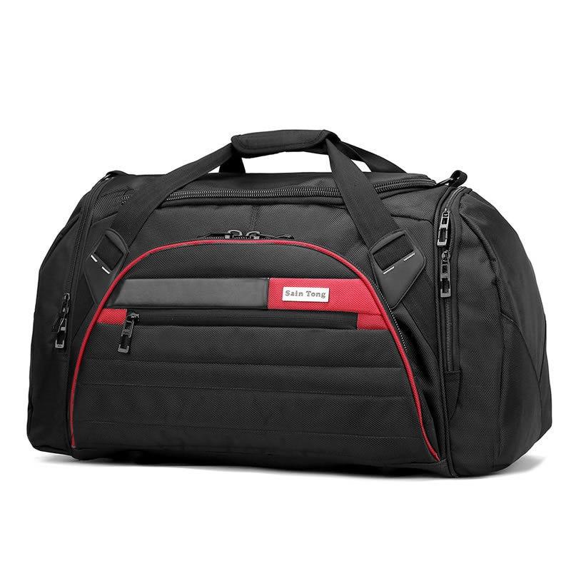 45l Large Multi function Sport Bag Men Women Fitness Gym Bag Waterproof Outdoor Travel black Sports