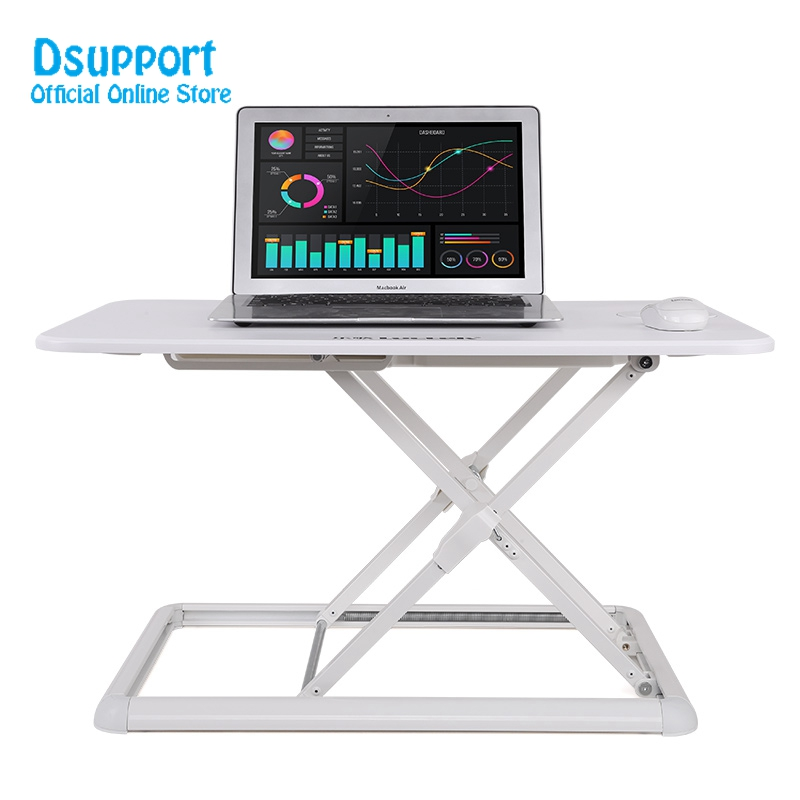 New ariva Ultra thin EasyUp Height Adjustable Sit Stand Desk Riser Foldable Laptop Desk Stand Notebook mn1 цена