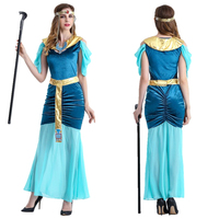 Egyptian Halloween Costumes Women Cleopatra Cosplay Princess Dress Holiday Party Egypt Adult Costume