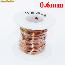 Chenghaoran 0.6mm 1 m QA 1 155 폴리 우레탄 에나멜 와이어 구리 와이어 에나멜 처리 된 수리 자석 와이어 0.6r 1 미터