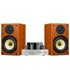 Image 2 - Nobsound CS1020 Wood 100W 1 Pair 6.5 inches Bookshelf Speakers 2.0 HiFi Column Sound Bluetooth Vacuum Tube Integrated Amplifier