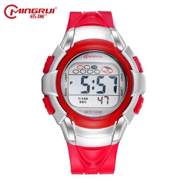 ca6d8a9498ac MINGRUI niños Digital Reloj chica impermeable Relojes de moda Relojes  deportivos de marca Femmes Relogio pulsera