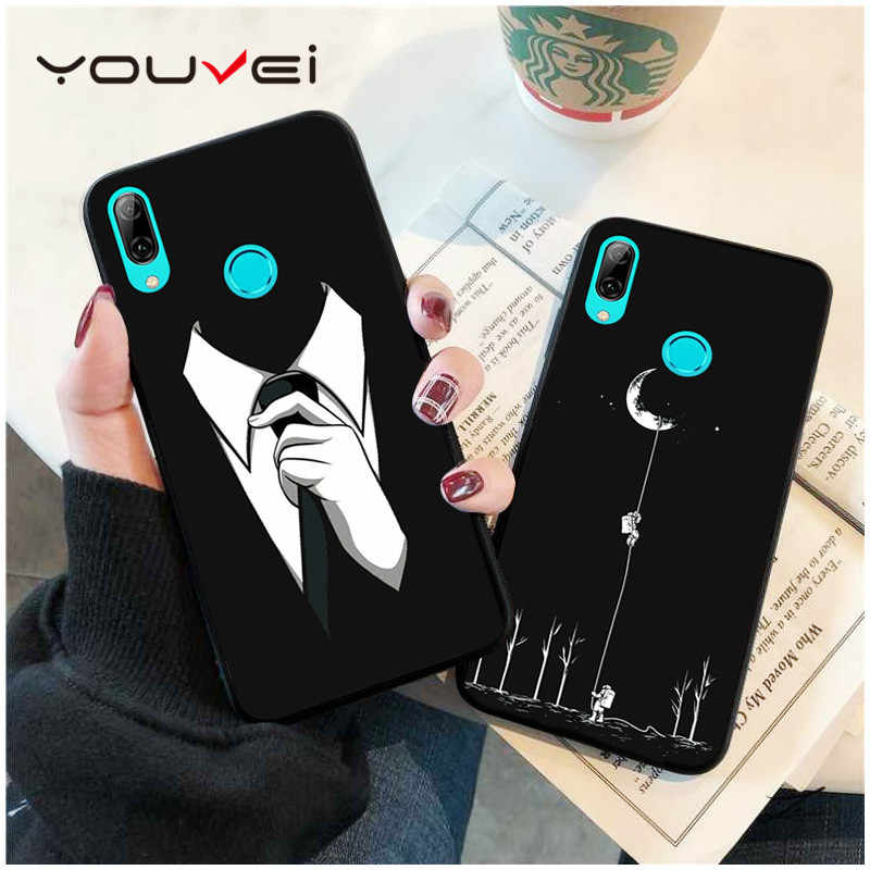 YOUVEI Case For Coque Huawei Honor 7X 8X Case Black Soft TPU Back Cover For Huawei Honor 8X Case Cover For Honor 7X Phone Case
