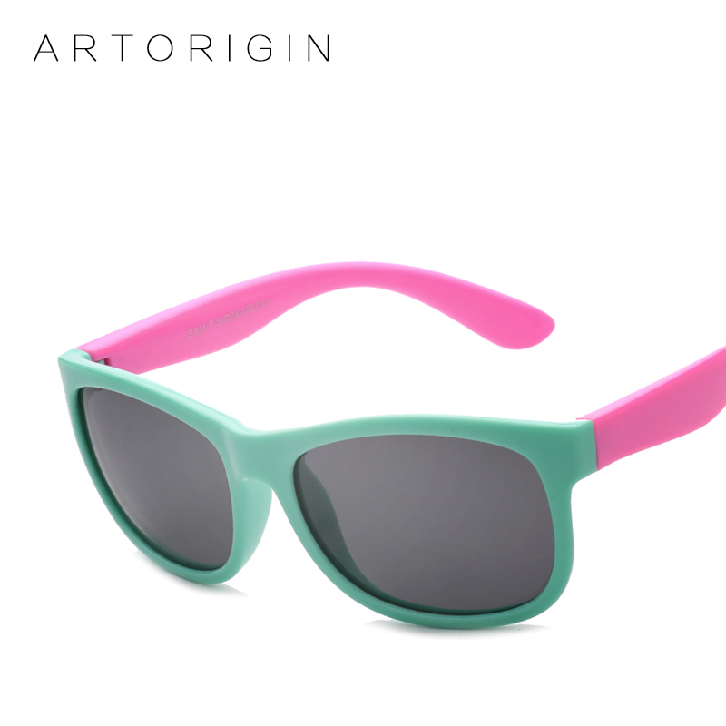 Boy's Glasses Strong-Willed Flexible Cute Kids Sunglasses Silicone Polarized Cats Eyes Childrens Glassess Uv400 Oculos Infantil Girls Goggles Boye Eyewear