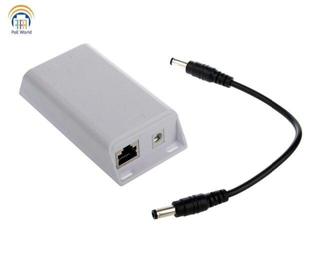 Poe 컨버터 802.3at poe ~ 24 v 패시브, 기가비트 poe 스플리터 (24v25w 출력의 ubnt/mikrotik 용)