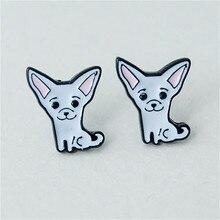 Huskies Doggy Enamel Stud Earrings