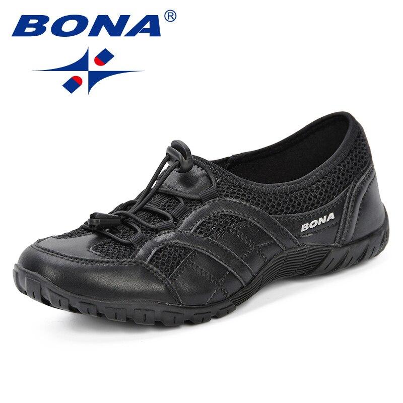BONA nouveau en plein air adultes formateurs chaussures de course femme maille chaussures Sport athlétique respirant femme baskets 2019 printemps automne - 2