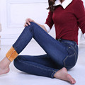 New Winter Jeans Women Plus Velvet Thicker Women's Clothing Stretch Pencil Jeans For Women Warm Trousers Cowboy Pants  C1496