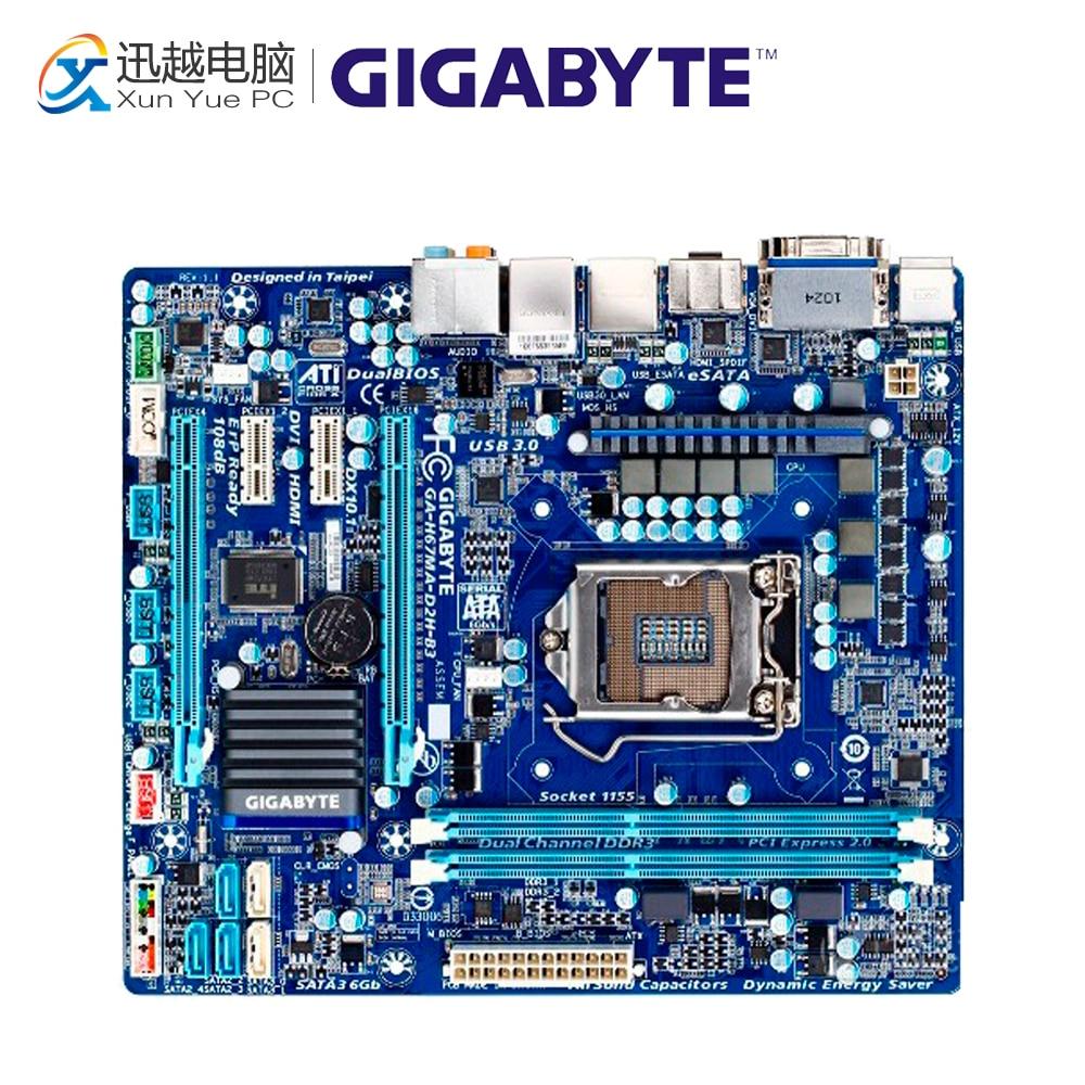 Gigabyte GA-H67MA-D2H-B3 Desktop Motherboard H67MA-D2H-B3 H67 LGA 1155 i3 i5 i7 DDR3 16G все цены