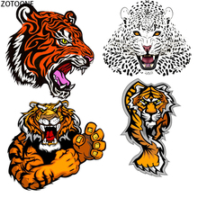 ZOTOONE Tigers Leopards Patches for Clothing DIY Applications Iron on Heat Transfer patch Appliques Clothes Thermo Stickers E