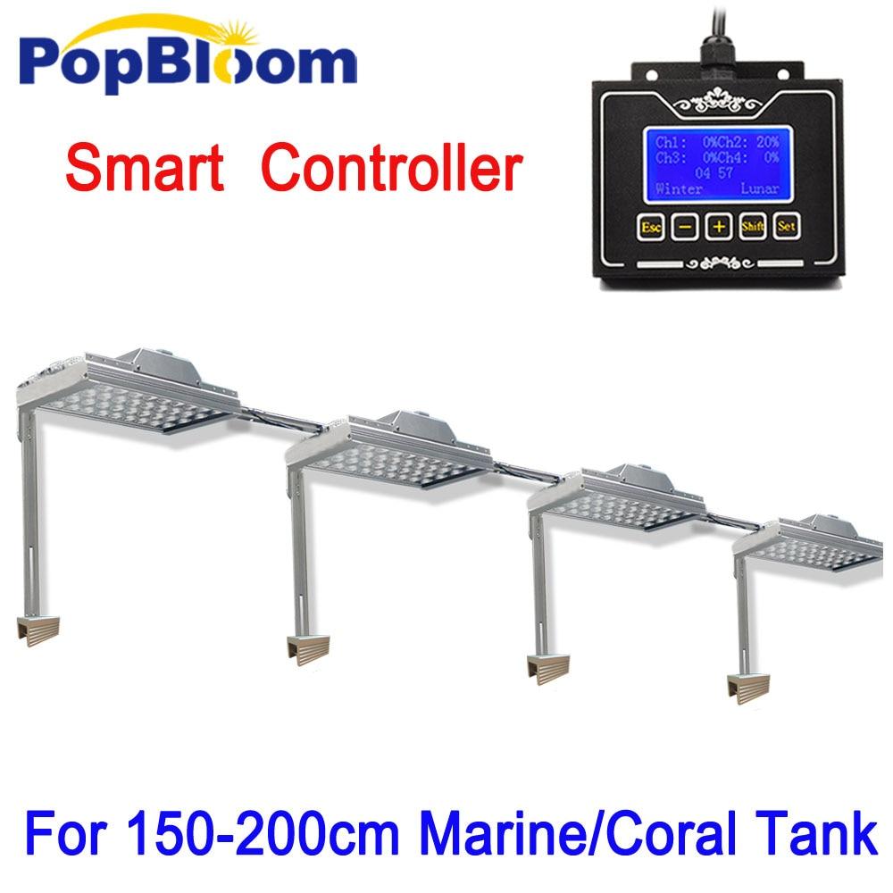 Full Spectrum UV LED Aquarium Grow Lighting Programmable Controller For Fish Coral Reef Marine Aquarium MH3SP4