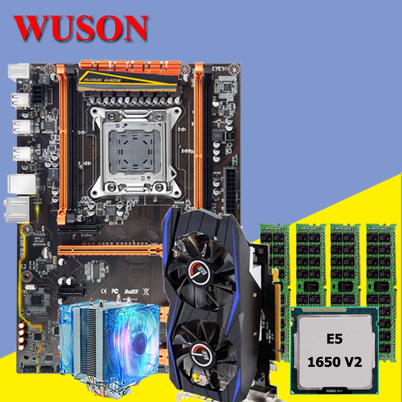 HUANAN X79 deluxe motherboard CPU RAM combos with CPU cooler Xeon E5 1650 V2 RAM 16G(4*4G) DDR3 RECC Video card GTX960 2G DDR5 huanan x79 motherboard cpu ram combos with cooler v2 49 x79 lga2011 processor xeon e5 2680 v2 ram 16g 4 4g ddr3 recc all tested
