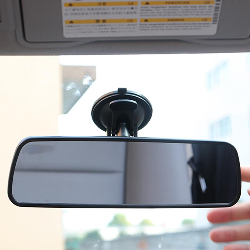 Rear-View-Mirror Car-Interior Vision Anti-Glare-Proof Large Wide-Angle With Suction-Cup