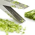 Multi funktions Edelstahl Küchenmesser 5 Schichten Schere Schalotten Geschreddert Gewürze Geschreddert DTT88-in Scheren aus Werkzeug bei
