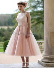 Elegant Short Knee bridesmaid dresses Organza Lace Ruched wedding party gown Flowers Sash formal party vestido