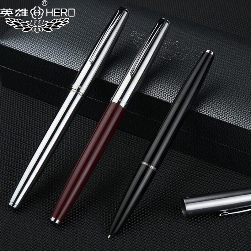 New Arrival Classic Design Hero 100 Stainless Steel Nib Ink Fountain Pen Nice Quality Gift Writing Pen