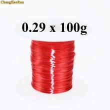 ChengHaoRan 0,29mm 100g QA 1 130 2UEW nuevo alambre esmaltado de poliuretano alambre de cobre 0,1 kg