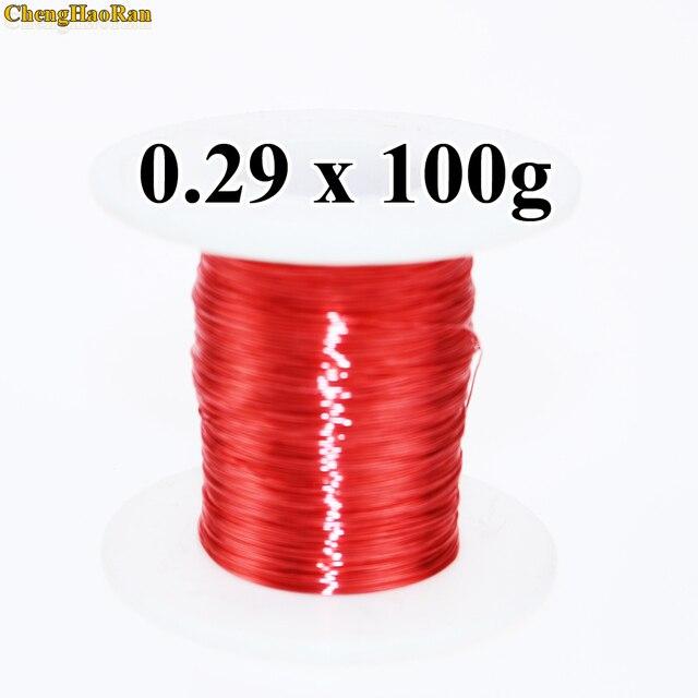 Chenghaoran 0.29mm 100g QA 1 130 2uew 새로운 폴리 우레탄 에나멜 와이어 구리 와이어 0.1 kg