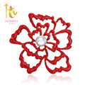[NYMPH] Pearl Brooches Large Natural Freshwater Brooches  Pearl Jewelry Fine Jewerly Red Wedding For Women  B02