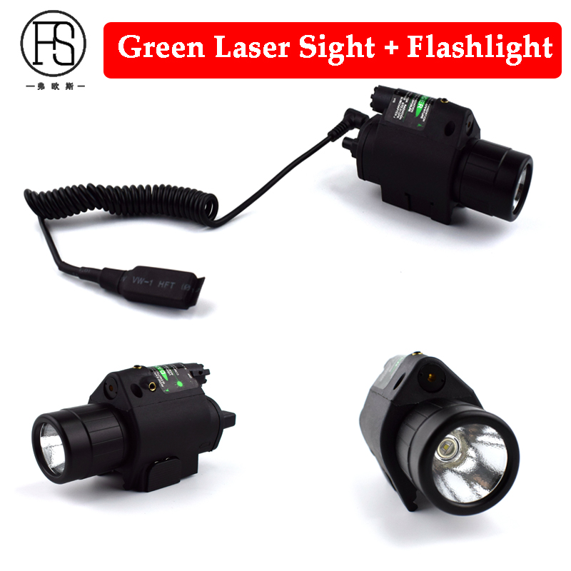 Hunting Laser Sight Scope Tactical M6 LED Flashlight Green Dot Laser Sight Quick Released Rifle Pistol Scope 20mm Rail