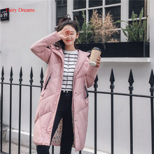 Fairy Dreams Women Winter Jacket Made Of Goose Feather Letter Coat Fur Cotton Down Parka Long Thick Warm Plus Size Clothing 3XL