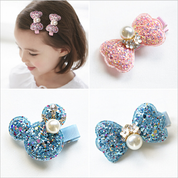 minnie mouse ears hairclip bowknot girls hair clips barrette pin bow children accessories headdress headwear hair ornaments 2017 simba пупс minnie mouse