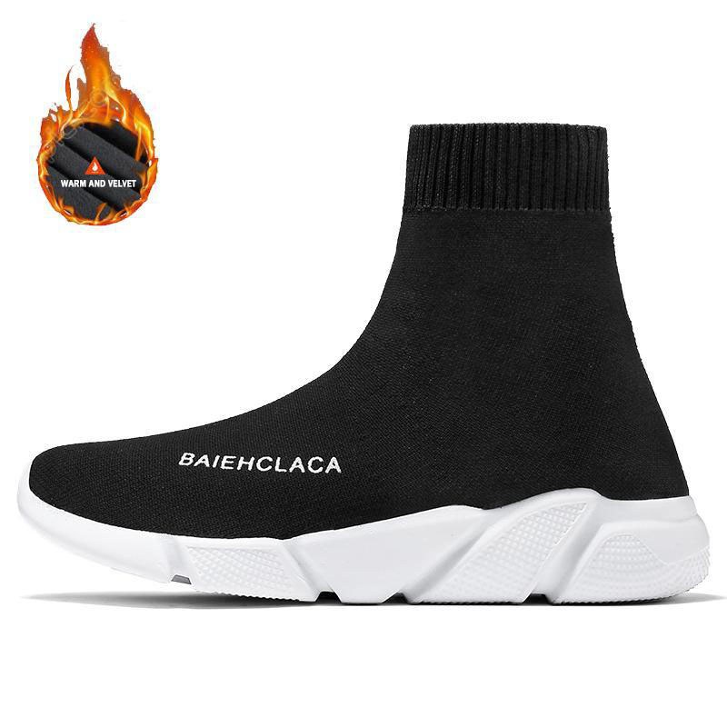2019 New Arrival Breathable Mesh Couple Running Shoes Light High Top Zapatos Mujer Deportivos Men Outdoor Jogging Sock Sneakers