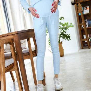цена на Maternity Women Leggings High Waist Belly Pregnant Pants For Maternity Women Clothing Pregnancy Nursing Trousers E0078