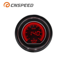 CNSPEED 52mm 2-inch EVO LCD red/blue LED water temperature meter with sensor 40-140 degrees Celsius YC101032
