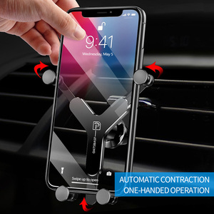 Image 3 - Kisscase金属重力iphone xsmax 6 y型車マウント電話スタンド用s8テレフォンtutucu