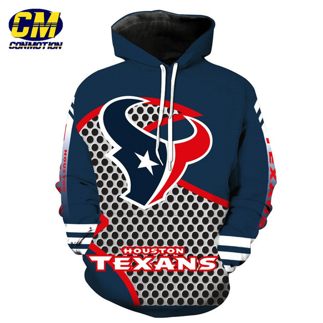Discount American football Fashion 3D hooded sweatshirt cool pullover Houston  for sale
