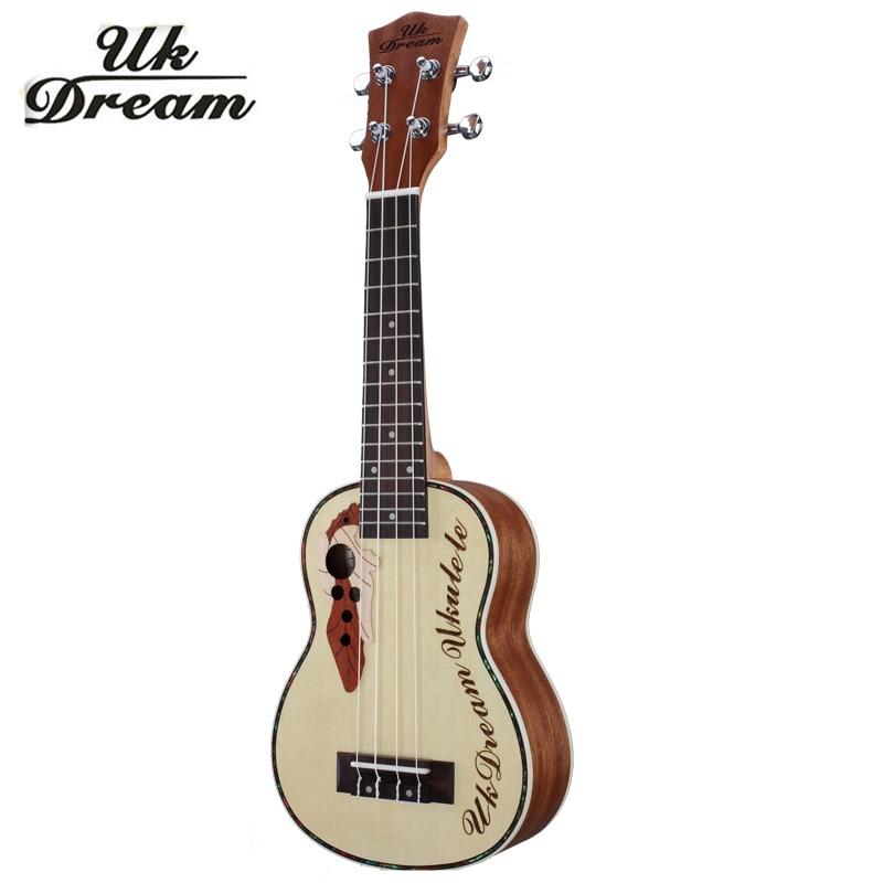 23 inch Mini Acoustic Guitar 18 frets Ukulele Picea Asperata Brazil Wood Semi-Closed Knob Four Strings Guitars Ukelele UC-316
