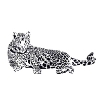 Fashion Black PVC Wall Stickers Cheetah Leopard 3D Removable Wall Decals Home Decor Stickers Zoo Animal