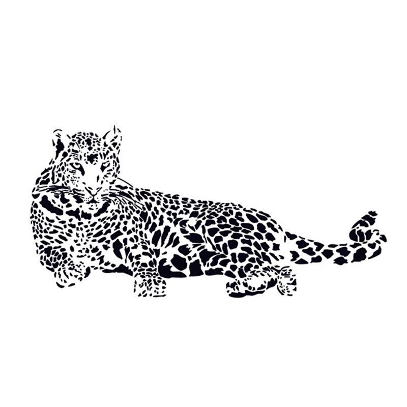 Fashion Black Pvc Wall Stickers Cheetah Leopard 3d Removable Wall