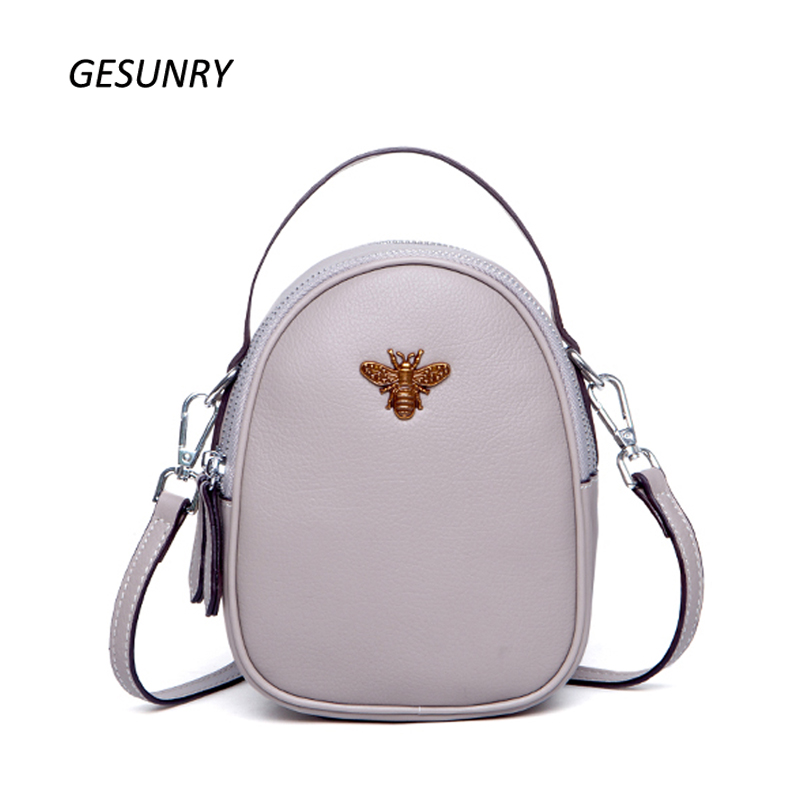 2018 Spring Ruil Girls bag Color Little bee Bags Fashion Zipper Designer Handbag Casual Shoulder Messenger Bag New Sac Femme pieces туника