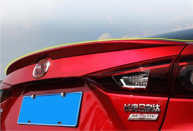 Soul Red Rear Wing Trunk Aero Spoiler For Mazda3 Mazda 3 Axela Sedan 2017 2016