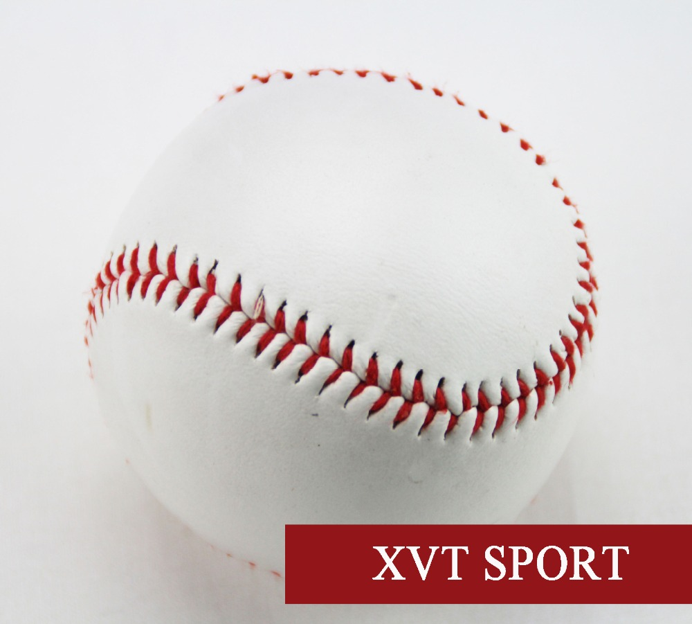 """High Quality 9"""" New White Base Ball Baseball Practice Trainning Pvc Softball &hardball / Mix Cork And Rubber Core Handsome Appearance"""