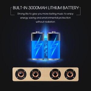 Image 4 - TOPROAD 12W Hifi głośniki z Bluetooth bezprzewodowy Subwoofer Stereo Altavoz drewno domowe Audio głośnik biurkowy zestaw głośnomówiący AUX