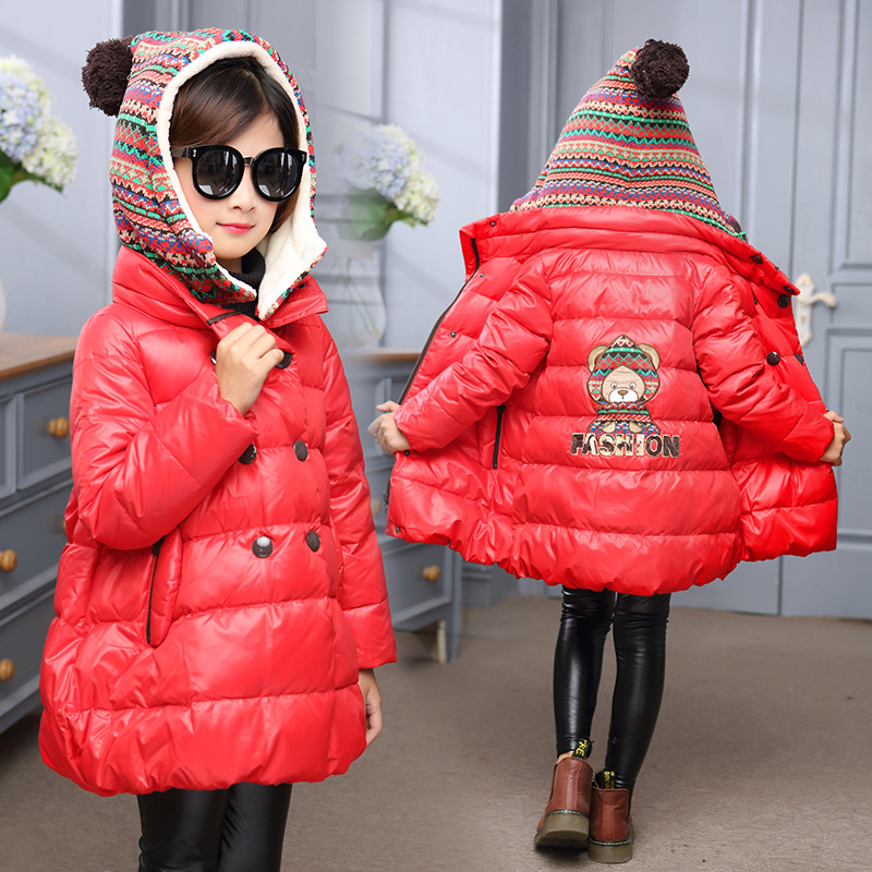 complimentary shipping 2019 clearance sale exceptional range of colors US $42.66 |winter jackets girls warm coat children red hooded jacket girls  parka yellow parkas for girl 6 years christmas costume kids gift-in Down &  ...