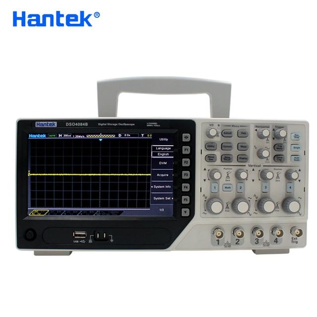 Hantek DSO4084B Digital Oscilloscope 4 Channels 80MHZ Bandwidth Portable USB Osciloscopio Portatil +EXT+DVM+Auto Range Function