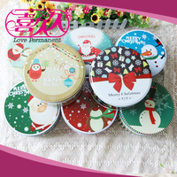 Multi Styles 3 Pcs Set Storage Round Boxe Set Tinplate Packaging Tin Box Three Piece Christmas