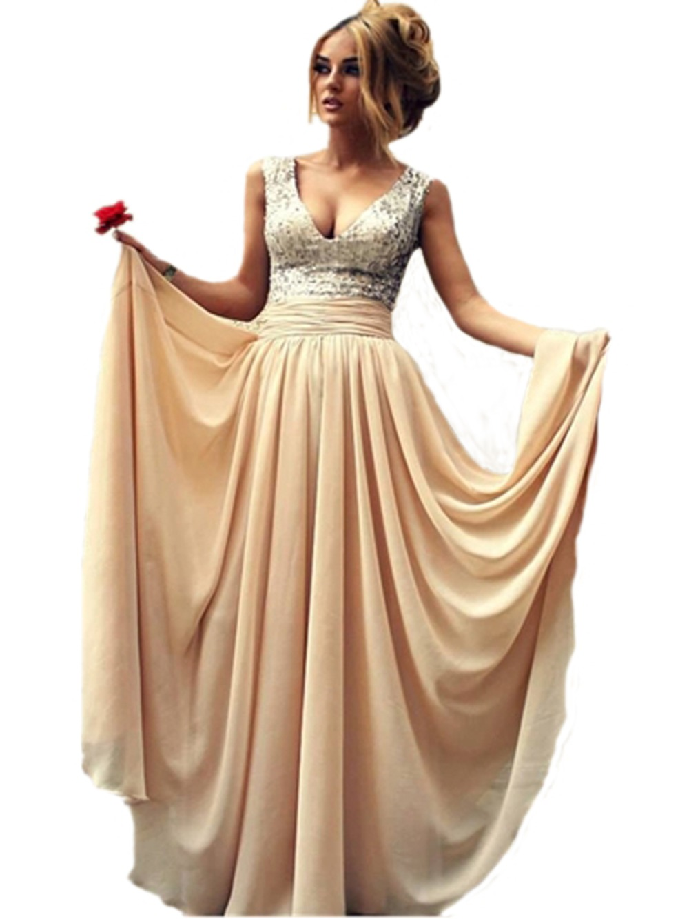 Wedding Champagne Colored Dresses online get cheap champagne colored dress aliexpress com alibaba long party evening elegant 2016 robe de soiree grande taille color dresses