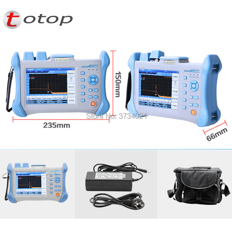 Free Shipping TLO-300 OTDR 32/30 Db 30/28 Db 28/26db Optical Time Domain Reflectometer, 120km, Integrated VFL 10mW