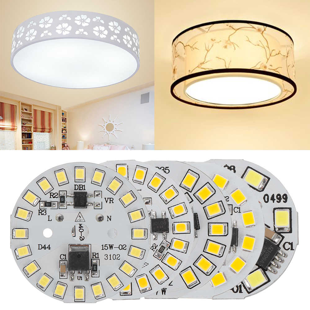 DIY LED Bulb Lamp SMD 15W 12W 9W 7W 5W 3W Light Chip AC220V Input Smart IC LED Bean For Bulb Light White