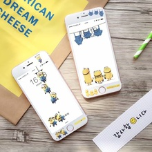 Hot Sale Rushed Tempered Film Anti knock Cute Cartoon Dispicable Me Yellow Minions 3d Screen Protector