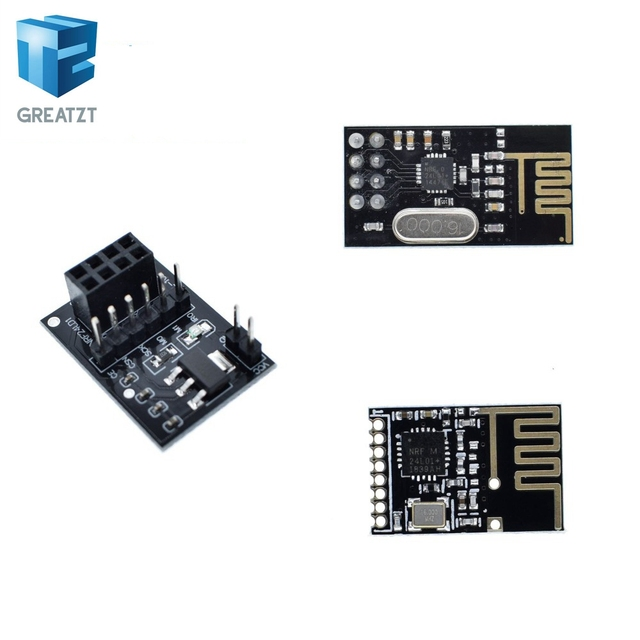 GREATZT עבור Arduino NRF24L01 אלחוטי Wifi משדר + 2.4 GHz אנטנת מודול לmicrocontroll