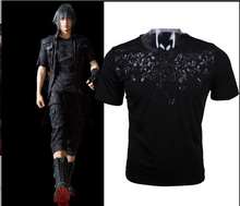 2017 Game Final Fantasy XV FF15 FFXV Noctis Lucis Caelum Mens Cosplay Skull Short Sleeve Cotton O-Neck T-shirts Tee Shirts