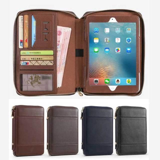 4be95982025 Business Rits Tas Koeienhuid Lederen Case voor iPad Air Air2 Aktetas  Handtas Wallet Stand Smart Cover