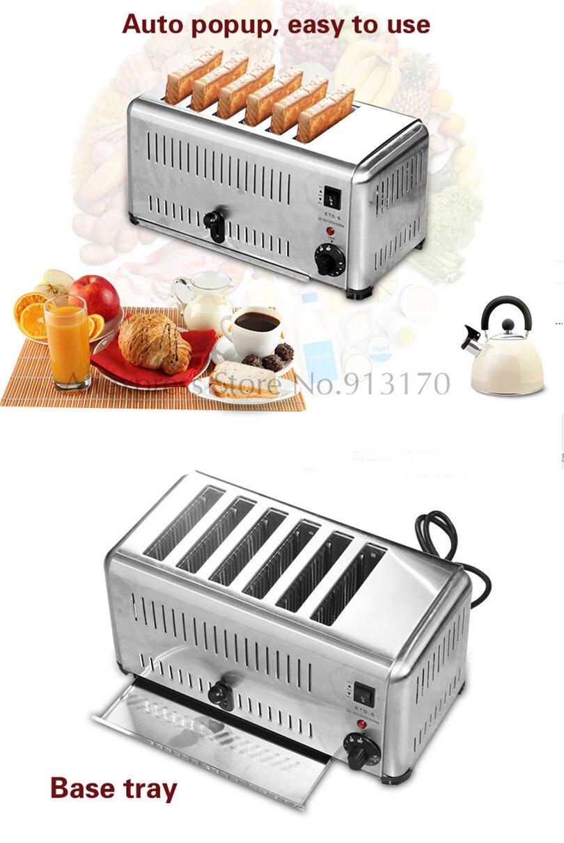 Cozinha elétrica Torradeira 6 Fatia de Aço